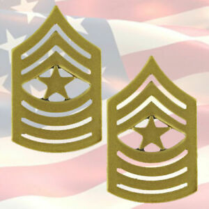 U-S-M-C-SERGEANT-MAJOR-CHEVRONS-PAIR-22K-GOLD-PLATED-COMBAT-OR-9