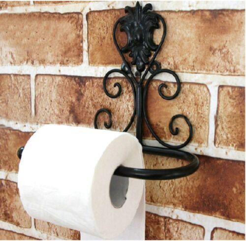 Antique Style Victorian European Toilet Paper Holder Iron Vintage Diy Stylish
