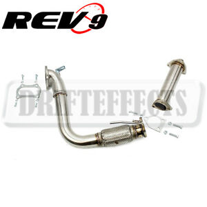 rev9 2 5 stainless steel turbo downpipe header bell mouth acura tsx rh ebay com Water Pump Location 2005 Acura TSX 2005 Acura TSX Black
