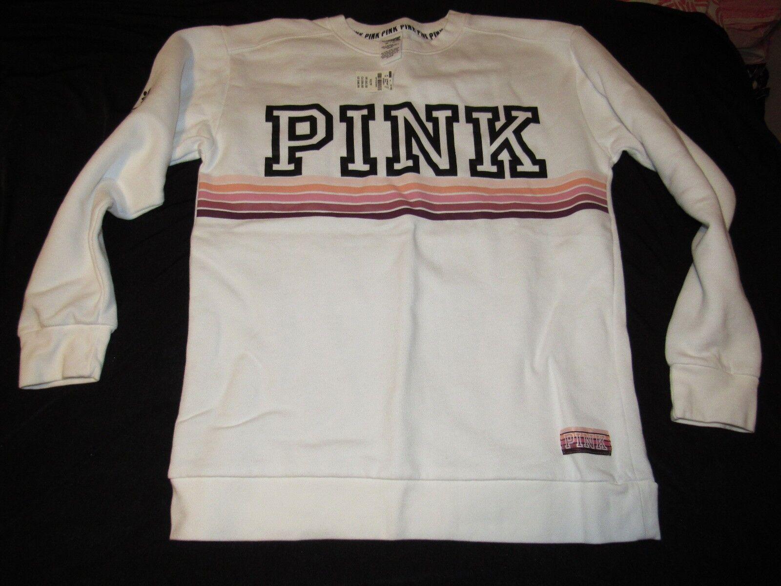 Victorias Secret Campus Crew Sweatshirt Size XSmall NWT Birthday Gift PINK Top Nrokwp15 Hoodies Sweatshirts