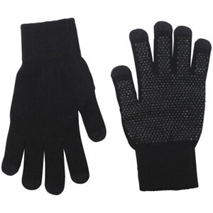 Dorfman-Pacific-Men-039-s-Touchscreen-Knit-Gloves-One-Size-Fits-Most