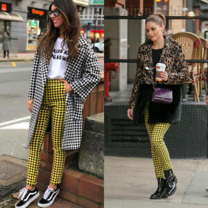 6d3275b7 Image is loading ZARA-SS18-CHECKED-TROUSERS-BLACK-YELLOW-REF-2346-