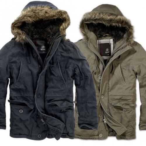 Brandit Vintage Explorateur Homme Veste courte Parka Militaire Chaud Hiver manteau de l/'armée