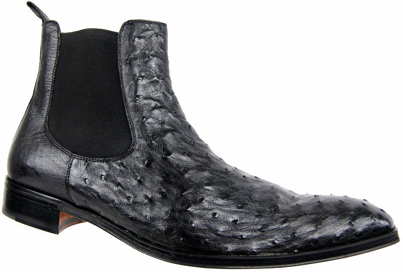 CALZOLERIA TOSCANA Avestruz Moda botas Diseñador Italiano Zapatos para hombre