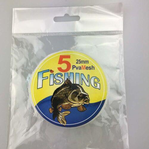 5meters Carp feeder Fishing PVA Mesh for grundbait Water Soluble Euclidean Net