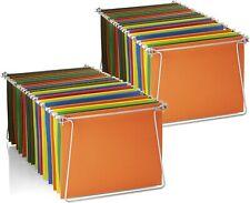 Hanging File Folder Frame 2 Pack Letter Size Desk Drawer Cabinet Files Organize