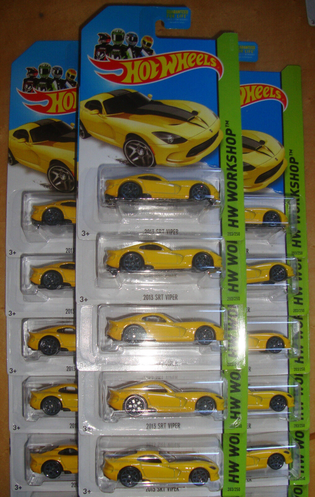 2014 Hot Wheels 2013 Dodge Viper Srt Lote de 15