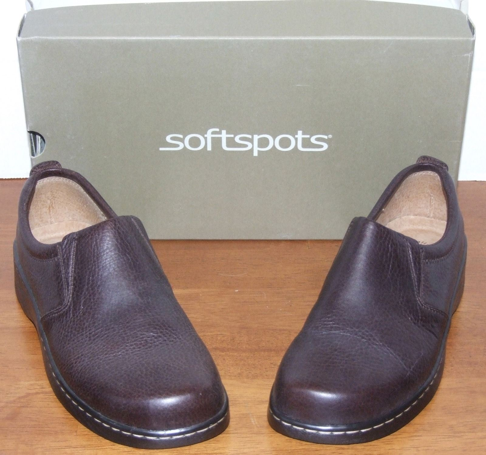 SOFTSPOTS Brewster Toffee chaussures En Cuir 7 1 2 M