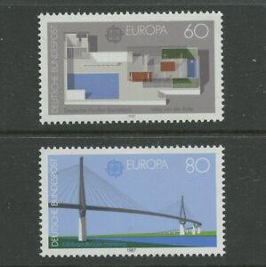 Bridge Pavilion 2 mnh stamps 1987 Europa Germany #1505-6 Architecture