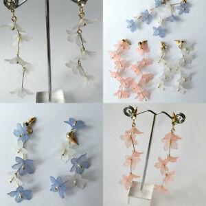 Fashion Women Flowers Stud Earrings Dangle Wedding Party Jewellery
