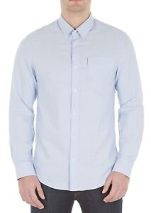 Sherman Blue Cotton Oxford Button Shirt Sleeve Regular Ben Long Shadow Down Mens R6qvORcd