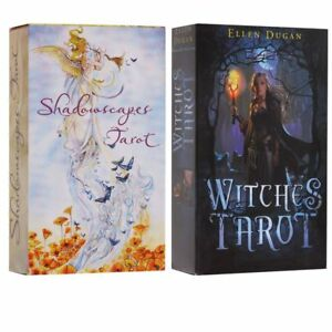 Witches Tarot Deck Сard English Version 78Card Future Fate Indicator Forecasting