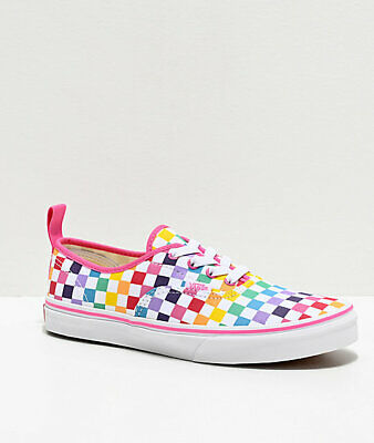 Vans Authentique Rainbow Damier à Carreaux Multicolore Chaussures de Skate | eBay