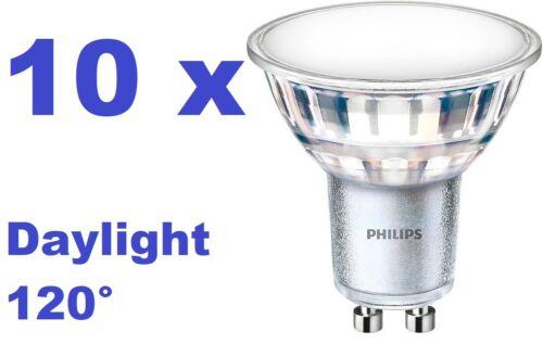 10x PHILIPS LED Strahler Spot GU10 5W 550lm 6500K Tageslicht DayLight Grad:120°
