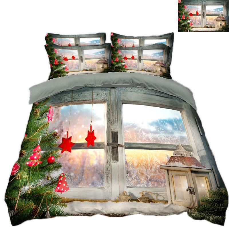 3D Christmas  Xmas 3330 Bed Pillowcases Quilt Duvet Cover Set Single Queen King