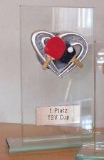 Tischtennis-Pokal (Glas) mit Wunschgravur (H)