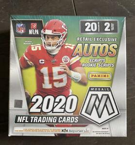 2020-Panini-Mosaic-Football-Mega-Box-Exclusive-Autos-Free-Ship-Factory-sealed