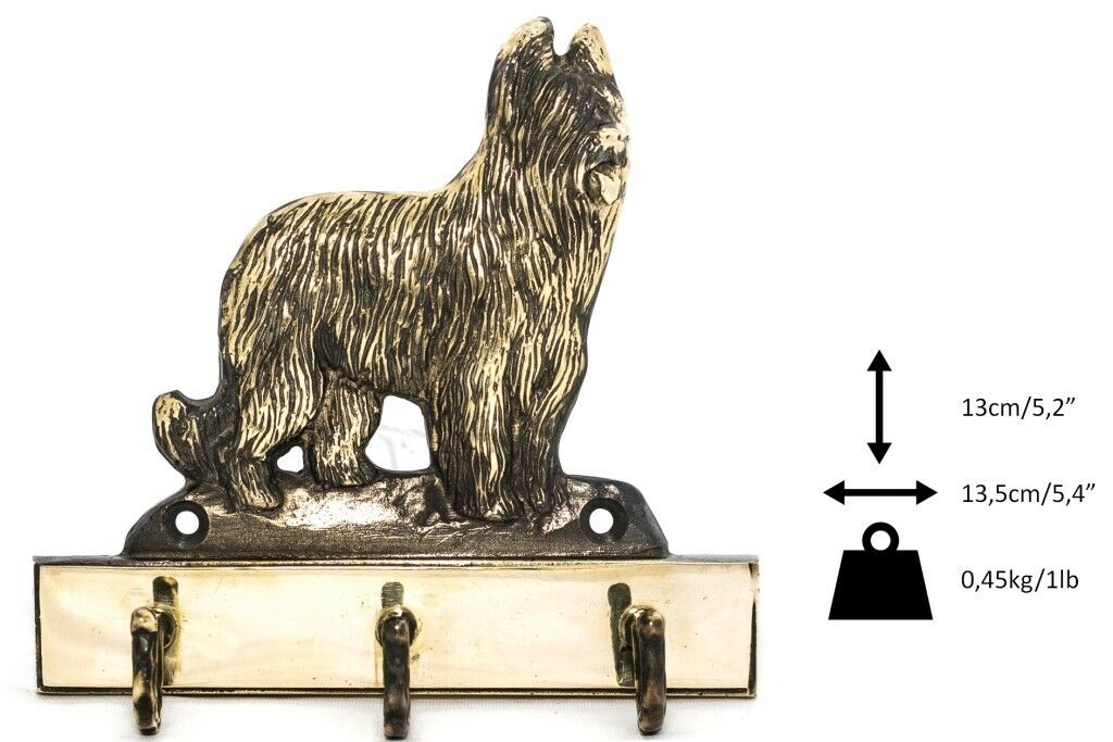 Briard - brass hanger with image of a dog, high quality, Art Dog