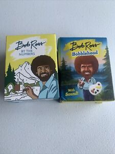 Bob Ross Bobblehead With Sound! And Paint By Numbers Lot Collectible