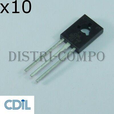 BD140 Transistor PNP 80V 1.5A TO-126 CDIL RoHS Lot de 10