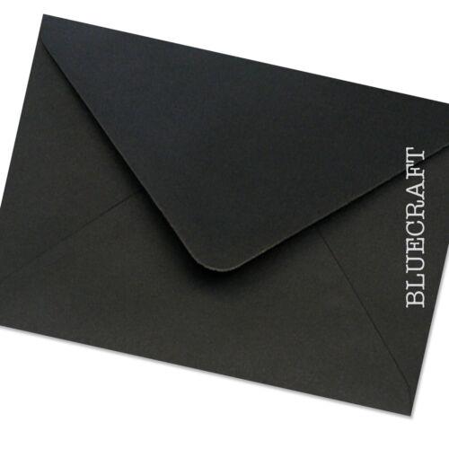 C6 A6 Designer Black Premium Envelopes 100gsm 4.48 x 6.37 inches 114 x 162mm