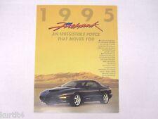 1995 Pontiac SLP Firehawk Firebird Sales Brochure Folder