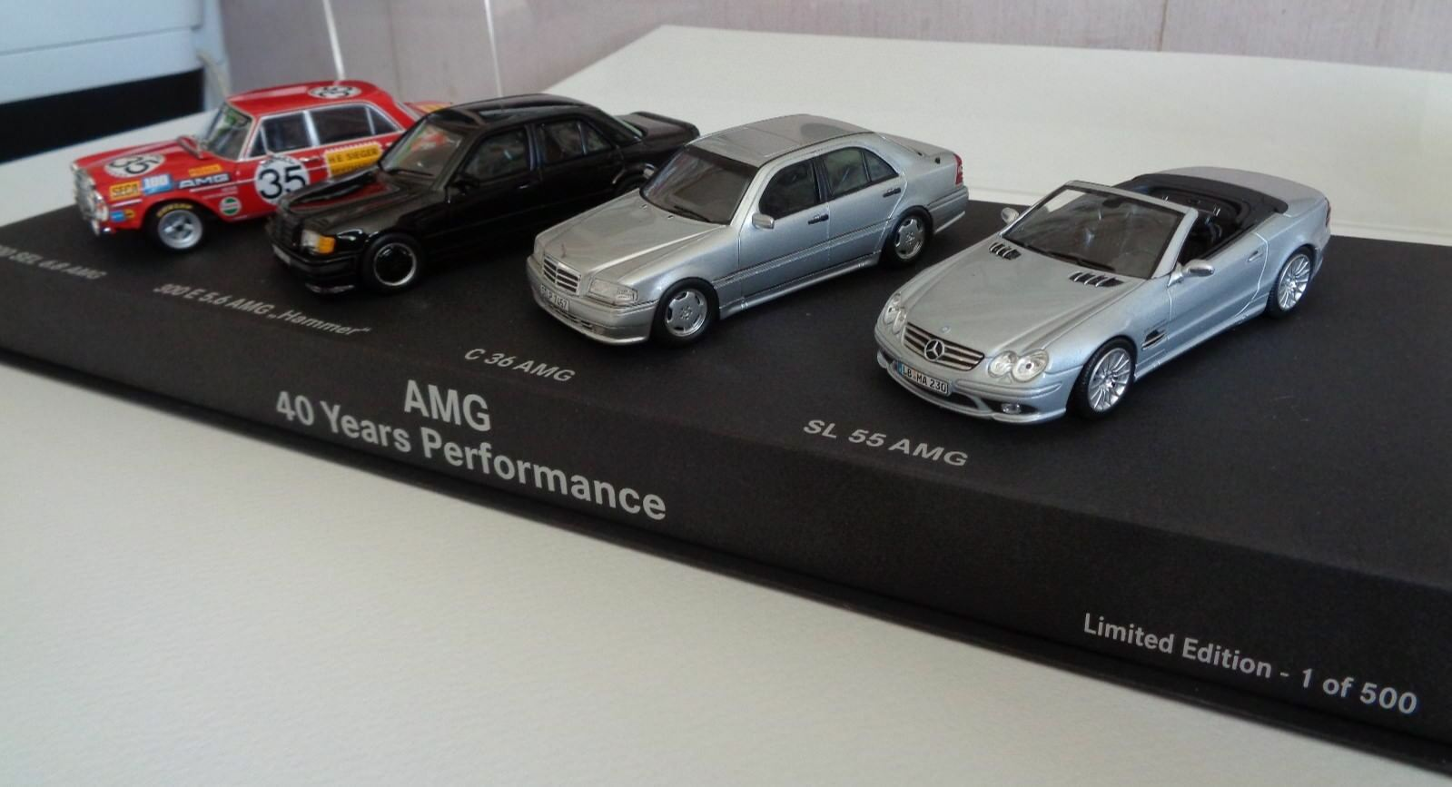 AMG Mercedes-Benz 1 43 set 40 years of performance, minichamps spark very rare