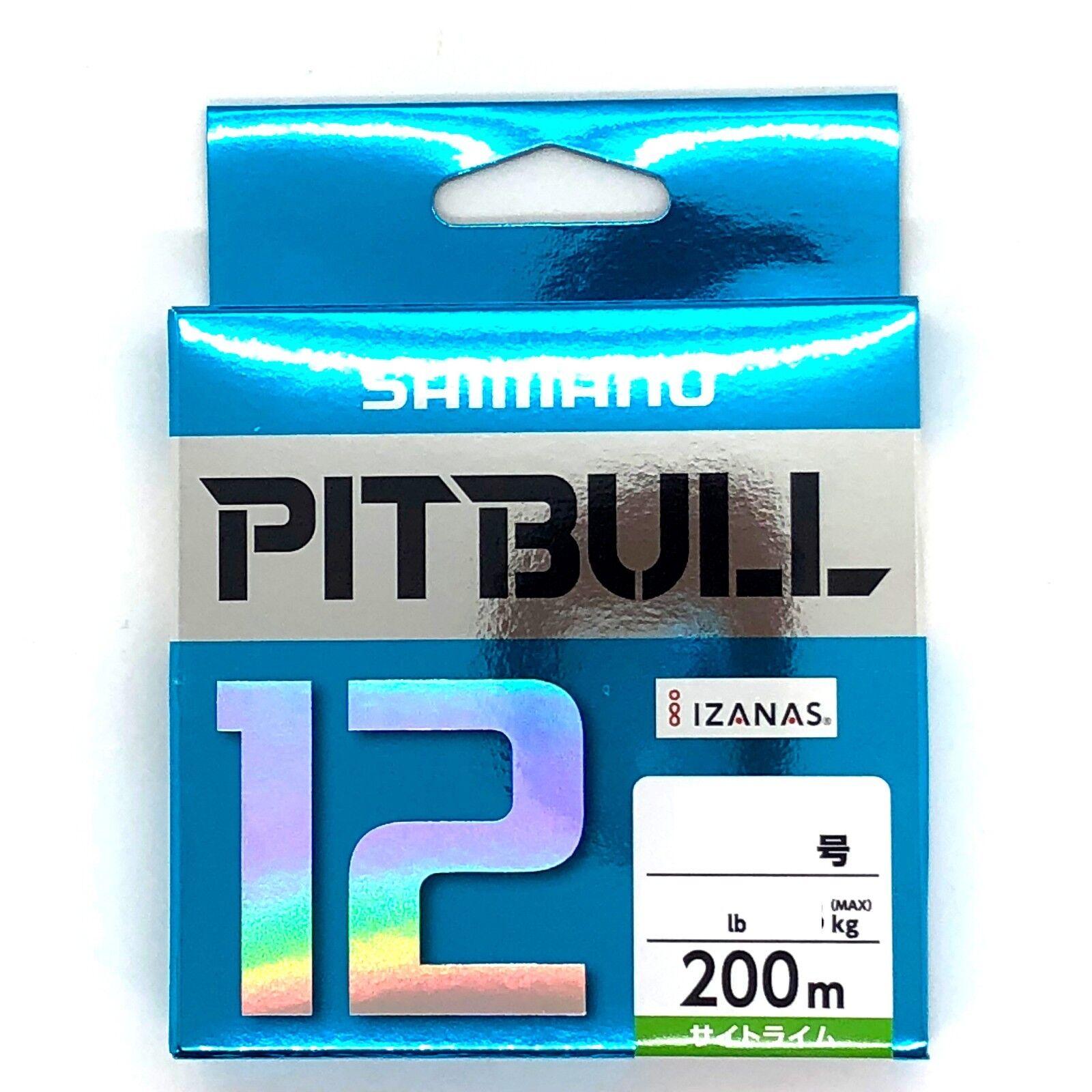 SHIMANO PITBULL X12 Braided Line PE 200m Lime Grün Select LB Free Shipping