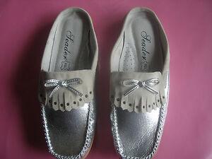 REBAJAS-talla-n-39-sandalias-zapatilla-babucha-plata-con-lazo-chica-mujer