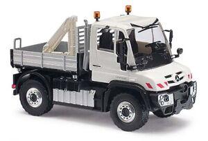 Busch-50910-Mercedes-Unimog-U430-With-Grid-And-Crane-H0