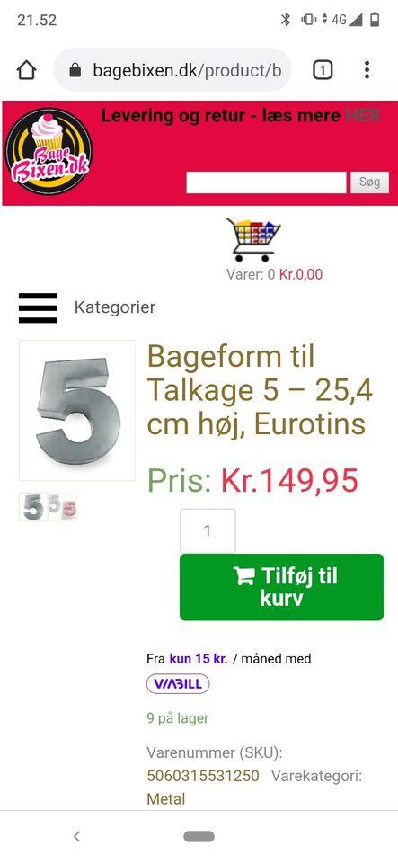 Kageform Talkage 2 stk, Eurotins