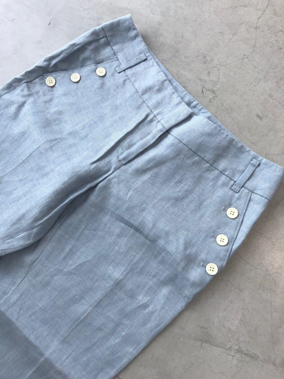 Ann Taylor Loft Linen Pants bluee Size 6 BNWT