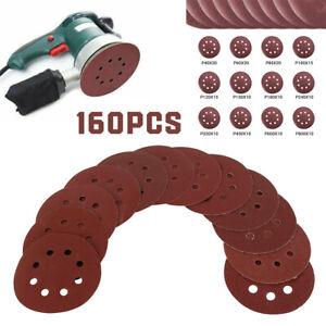 160 pièces Kit tampons disques ponçage 125 mm meuleuse forage outils rotatifs SH