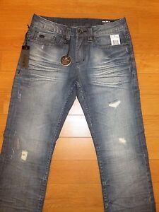 NWT Men's Buffalo SIX-X Slim Straight Stretch Jeans (Retail $119)