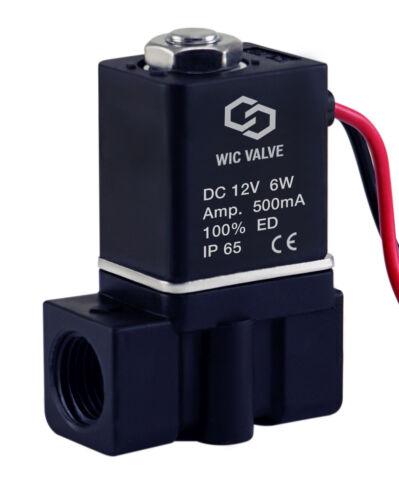 """Plastique Rapide Réponse Electric Air Gaz Eau Électrovanne 1//4/"""" Pouce 12V DC"""