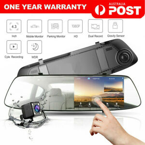 4-3-034-Rear-View-Mirror-Dash-Car-Reverse-Camera-Kits-Double-Cam-FHD-1080P