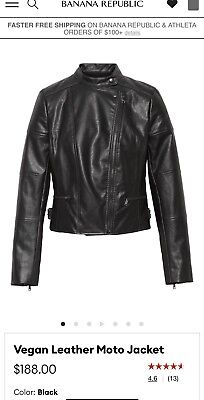 Banana Republic Leather Moto Jacket White Size XS or XL NEW WITH TAG