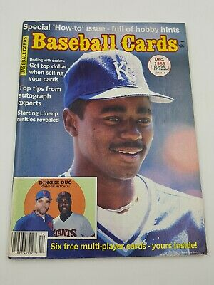 Baseball Cards Magazine December 1989 6 Insert Cards