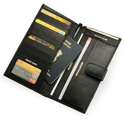 PASSPORT CUM CREDIT CARD holder (Unisex)- PU Sole