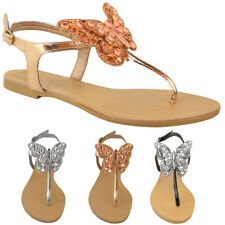 e77b02187e9098 item 3 Womens Ladies Flat T-Bar Diamante Sandals Summer Flip Flops Toe Post  Shoes Size -Womens Ladies Flat T-Bar Diamante Sandals Summer Flip Flops Toe  Post ...