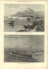 1873 Surf Boat Lands Troops Gold Coast Cameroons Ambas Bay
