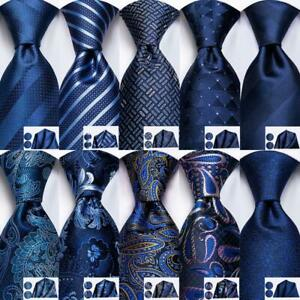 Extra-long-Mens-Tie-Necktie-Set-Silk-Gold-Blue-Yellow-Red-Black-Striped-Novelty