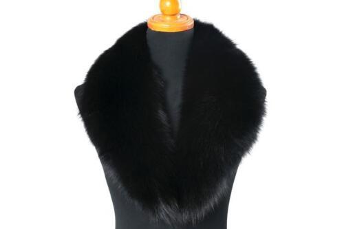 Lady Warm Real Vulpes Lagopus Fox Fur Collar Wrap Scarf Shawl Black In Hot Sales