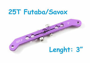"US SELLER /& SHIP 1pc 3/"" Heavy Duty Aluminum 25T Futaba//Savox Dual Servo Arm,"