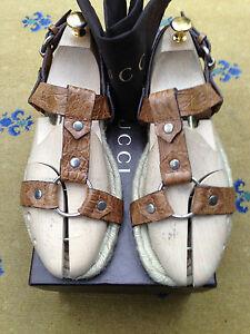 Sandali-da-uomo-Gucci-Thongs-in-pelle-Flip-Flop-UK-8-5-US-9-5-EU-42-5-scarpe-coccodrillo