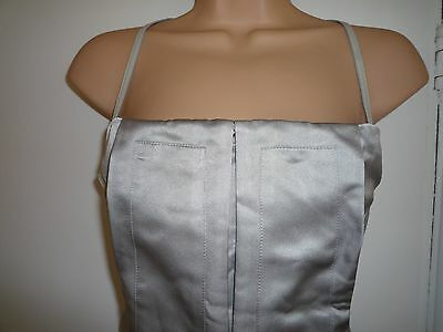 CALVIN KLEIN DRESS SILK & LEATHER STRAPS AND CORSET TOP 8 BNWOT
