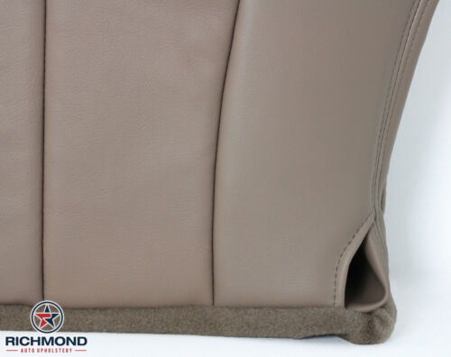 1999 Ford F-150 Lariat Driver Side Bottom Replacement Leather Seat Cover TAN