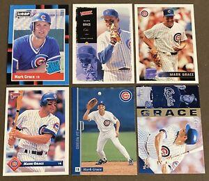 Mark-Grace-6-CARD-LOT-including-ROOKIE-1988-Donruss-Leaf