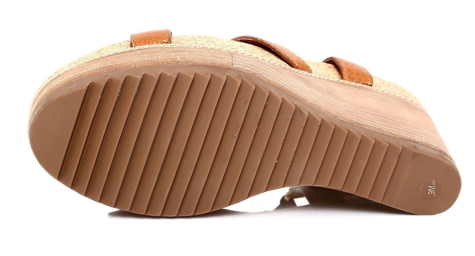 Tory Burch Ankle Strap Leather Leather Leather Wedge Sandal marron femmes Sz 9 M 1178 ec8e4c