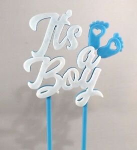 7b526d6f100de Details about It's a Boy Cake Topper - New Baby - Baby Shower - Cake  Decorations - Baby Boy